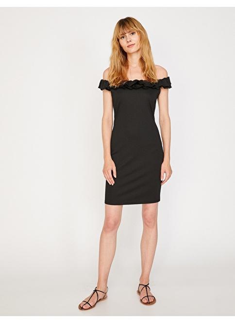 500b045e62ccb Koton Kadın Kayık Yaka Kalem Elbise Black | Morhipo | 21610975